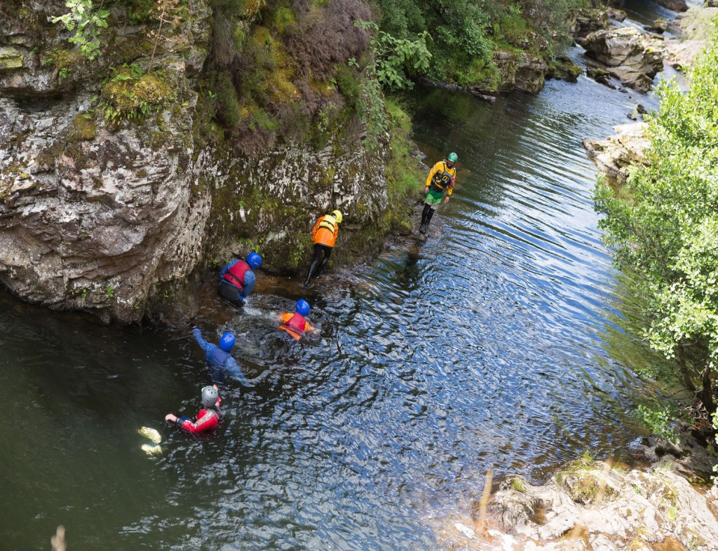 gorge walking in scotland