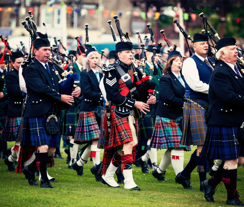 Scottish bag pipe bands