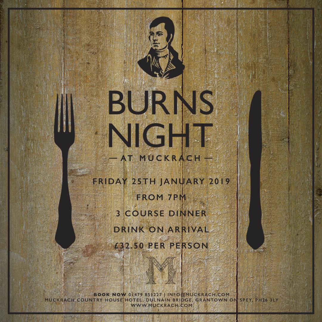 Burns Night at Muckrach Hotel